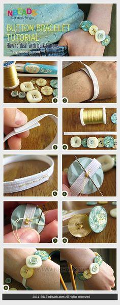 elastic button bracelet