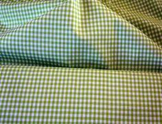 Stoff ♥Vichy-Karo ♥ hellgrün/weiss Baumwolle  Karos: 5mm   Wunderschöner Stoff für deine kreative Zeit ob Taschen, Kleidung,Gardinen oder oder    *...
