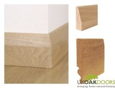 Chamfered skirting without shadowline