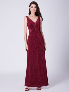 6d927020983 Shimmery Long Evening Dress with Sheer Panels