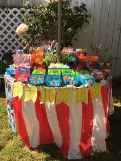 Carnival birthday party. Carnival game prizes. Prize table                                                                                                                                                      More