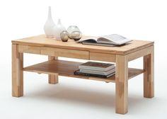 Couchtisch Holz Lukas Kernbuche Massiv 8821. Buy now at https://www.moebel-wohnbar.de/couchtisch-holz-lukas-wohnzimmertisch-kernbuche-mit-schublade-8821