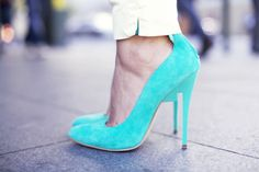 Bright heels are a spring must