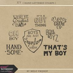 """""""XY - Hand Lettered Stamps"""" kit by Melo Vrijhof"""