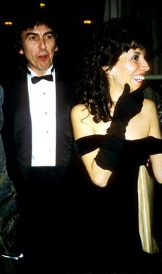 George and Olivia at 1993 Bafta Film Awards, Nov. Olivia Harrison, George Harrison, Beautiful Family, He's Beautiful, Beverly Hills, Pattie Boyd, The Beatles, George Beatles, Step Kids