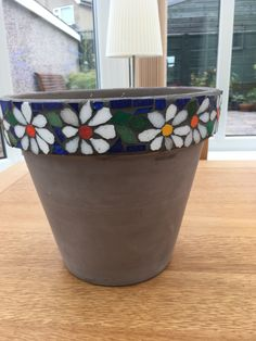 Mosaic Planters, Stained Glass Flowers, Dots Design, Painted Pots, Terracotta Pots, Terra Cotta, Clay Pots, Flower Pots, Bbc