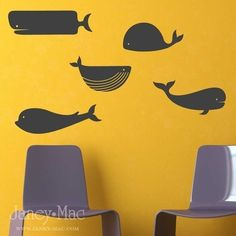 whale decals for nautical themed bedroom