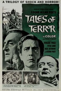Tales of Terror (1962) USA AIP Horror D: Roger Cormon. Vincent Price, Peter Lorre, Basil Rathbone, Debra Paget. 12/11/02