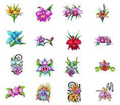 Orchid tattoo designs from Tattoo-Art.com