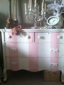 Maison Decor: Stripes~Painting them on furniture!