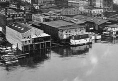 portland oregon historical photos   Portland Waterfront, West Side, c. 1922 // Gi 6921