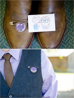 alternative boutonniere from the pixar movie up http://www.weddingchicks.com/2013/12/05/sweet-and-simple-outdoor-wedding/