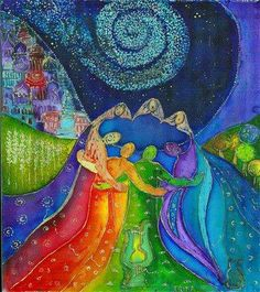 """""""We are travelers on a cosmic journey; stardust swirling and dancing in the eddies and whirlpools of infinity. Life is eternal. We have stopped for a moment to encounter each other, to meet, to Love, to share. This is a precious moment. It is a little parenthesis in eternity.."""" ~ Paulo Coelho. ۩ Artwork """"Circulo de Mujeres-La Mujer Espiral"""" by Elena Faba [Barcelona, Spain] ღೋƹ̵̡ӝ̵̨̄ʒღೋ ღೋƹ̵̡ӝ̵̨̄ʒღೋ"""
