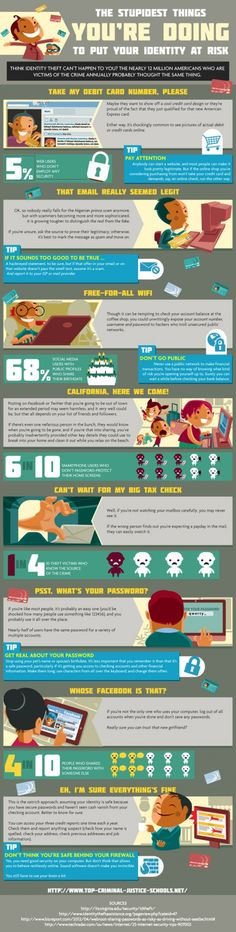 Protecting Your Online Identity   Infographic