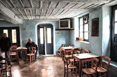 Explore Unknown Greece with a Greek: The Oldest Traditional Greek Cafe, in Pilio Coffee Shop Design, Cafe Design, Interior Design, Greek Cafe, Old Greek, Places In Greece, Coffee Places, Outdoor Cafe, Traditional Furniture