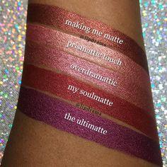 Milani metallic lipsticks ⊱✧A. Milani Lipstick, Milani Cosmetics, Lipstick Art, Lipstick Swatches, Makeup Swatches, Makeup Dupes, Lipstick Colors, Lip Art, Lip Colors