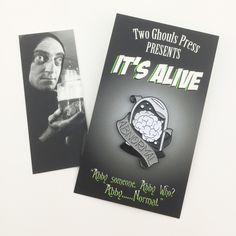 Abnormal brain -young Frankenstein Enamel pin Lapel pin flair two ghouls press