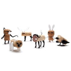 Wine Accessories - Corkers Animals Crow - Character Pins For Wine Cork - Unique Packaging Hangs On Wine Bottle by Monkey Business Monkey Business, Wine Corker, Design3000, Recycled Wine Corks, Cork Art, Deco Originale, Wine Cork Crafts, Cork Stoppers, Animal Party