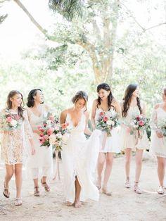 Tropical beach wedding: Photography: Ether & Smith - www.etherandsmith.com   Read More on SMP: http://www.stylemepretty.com/california-weddings/2017/05/11/boho-garden-wedding/