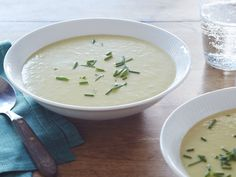 Leek Potato Soup Recipe : Alton Brown FoodNetwork.com - Made this tonight with a little tweeking and it is very good!  (I tweeked it to make it healthier)  - Wendy