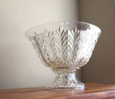 Vintage Jeanette Glass Feather Pattern Punch by CaprockVintage, $65.00