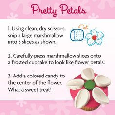 Pretty Petals - a sweet way to dress up a spring treat!