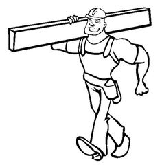 construction construction worker lift up iron beams coloring page - Construction Worker Coloring Page