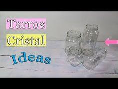 Botes de cristal ideas - YouTube Creative Crafts, Diy And Crafts, Diy Glasses, Bottle Vase, Handmade Design, Mason Jars, Recycling, Ideas Manualidades, Jeans
