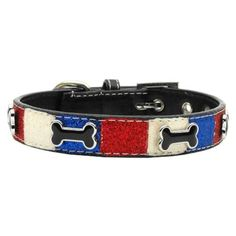 Mirage Pet Products Patriotic Ice Cream Dog Collar, Bones -- For more information, visit image link. (This is an Amazon affiliate link)