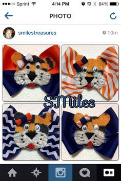 My Auburn collection of Hairbows for my big  craft show