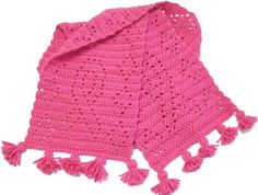 Breast Cancer Awareness Crochet Scarf - CROCHET
