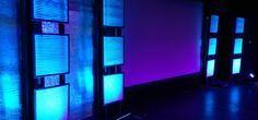 """Portable freestanding backdrop using Reflectix"""" insulation, air filters and LED bars 