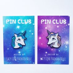 Unicorn Enamel Pins by PINCLUB on Etsy