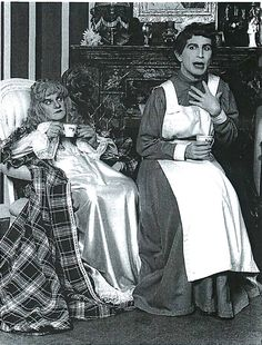 "Throwback Thursday: Charles Ludlam and Everett Quinton performing ""The Mystery of Irma Vep"" in 1984."