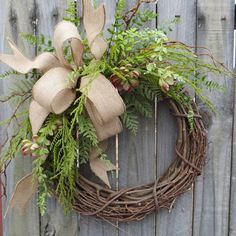 Succulent Wreath Wreath Great for All Year Round by HornsHandmade