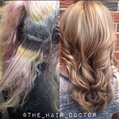 The most dramatic before and after we've seen. Um, hellloooo this is crazy. #hair #beforeandafter #olaplex