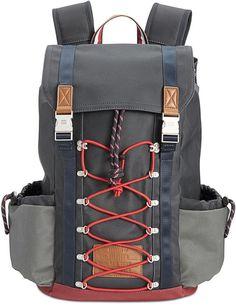 Tommy Hilfiger Men's Coated Canvas Backpack