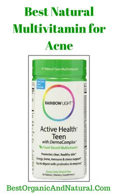 Best Natural Multivitamin for Acne. Rainbow Light's Active Health Teen Multivitamin is a food-based supplement designed to fill gaps in teen diets and provide nutrients, botanicals, and high potencies of essential vitamins and minerals that support clear, healthy skin*. A DermaComplex Herbal Blend promotes healthy skin, provides energy, and supports...continue reading by clicking here --> http://bestorganicandnatural.com/hair-skin-health/best-natural-multivitamin-for-acne/