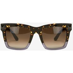 f42cfd15432 Valentino Oversized Square Half Tortoise Sunglasses ( 328) ❤ liked on  Polyvore featuring accessories