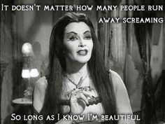 I take my self esteem tips from Lily Munster Sister Love Quotes, Me Quotes, Funny Quotes, Motivational Quotes, Rebel Fashion, Fashion Goth, Fashion Outfits, Yvonne De Carlo, Makeup Humor