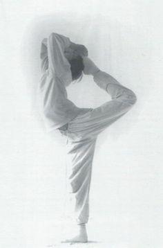 """Der Tänzer, natarajasana, 1992, erschienen in dem Buch """"Das Hohelied der Asanas"""""""