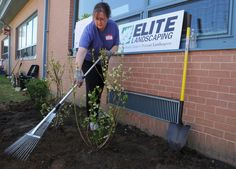 Celebrity landscaper helps build an educational garden at Glassboro elementary school, May 2015 Elite Landscaping, Strawberry Plants, Elementary Schools, Sustainability, Photo Galleries, Celebrity, Construction, Education, Landscape
