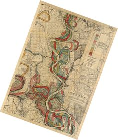 Mississippi River map put together by Nelson Minar