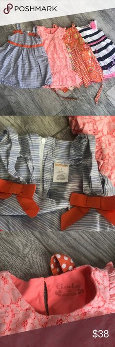 BUNDLE 4️⃣ Girls 4 T Dresses Gently used 4 beautiful little girl dresses. No blemishes on any of them. In a smoke free pet free environment! Dresses Formal