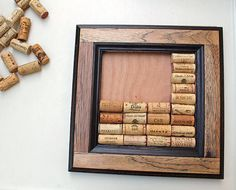 Wine Cork Crafts  DIY Bulletin Board Kit  made from reclaimed wood