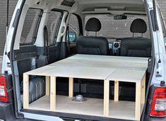 Renault Kangoo Camper Van Conversion Module by Simple Camper Vans Car Camper, Camper Van, Vw Caddy Maxi Life, Peugeot, Berlingo Camper, Kangoo Camper, Campervan Bed, Folding Campers, Fold Out Beds