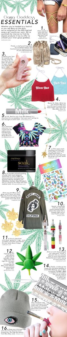 Embrace your inner Ganja Goddess with these 16 must-have essentials!