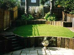 Garden Design Using Sleepers a fantastic project with reclaimed railway sleepers set on end