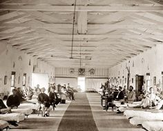 Washington, D.C. Patients in Ward K of Armory Square Hospital. It was created in 1865
