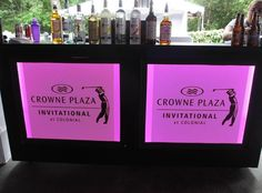 Custom bar with graphics for the Colonial Invitational / www.mmspecialevents.com / M&M Event Rentals Dallas / M&M Event Rentals Chicago / #mmspecialevents